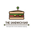 food logotype with classical sandwich vector image vector image