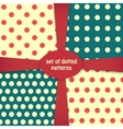 four dotted colored patterns vector image vector image
