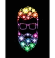 Gem Bearded Man with Glasses vector image