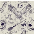 Halloween seamless texture vector image vector image