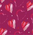 Heart formed strokes vector image