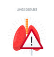 human lungs diseases concept in flat style vector image