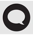 information icon - speech bubble vector image vector image