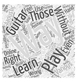 learn to play an acoustic guitar Word Cloud vector image vector image