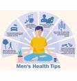 man s health tips men s health infographics vector image