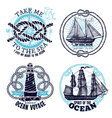 Marine Emblems Collection vector image vector image