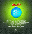 Merry Christmas and Happy New Year Card ball toy vector image