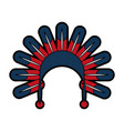 native american feather hat vector image vector image