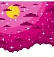 Night beautiful moonlit sky vector image vector image