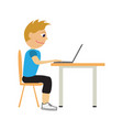 programmer flat cartoon style vector image vector image