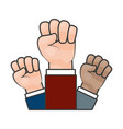 raised hands strong vector image