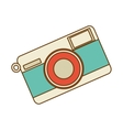 Retro photographic camera vector image vector image