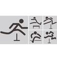 Running hurdles icons vector image vector image