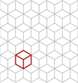 seamless isometric cubes background vector image