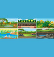 set background scenes with nature vector image vector image