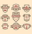 set mountain camp emblem templates design vector image vector image