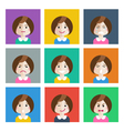 set of different emotions girl vector image