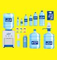 set plastic water bottle vector image