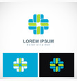 shape cross plus hospital logo vector image vector image