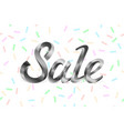 silver metal lettering sale price offer deal vector image