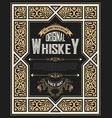 vintage card for whiskey vector image vector image