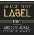 vintage label font modern style Whiskey vector image vector image