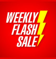 weekly flash sale deal of the day banner vector image vector image