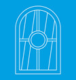 white arched window icon outline vector image vector image