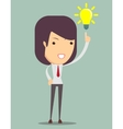 Young business woman get an idea vector image vector image