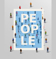 group of people border design elements vector image