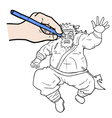 Hand vecctor drawing vector image