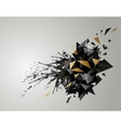Geometric abstract banner with black color and vector image