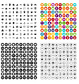 100 private property icons set variant vector image vector image