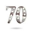 70 years anniversary celebration design vector image