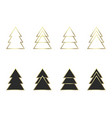a set of geometric christmas trees vector image