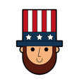 abraham lincoln with hat comic character vector image vector image