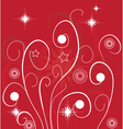 Abstract Christmas floral design vector image vector image