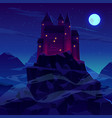 ancient castle or fortress in mountains vector image vector image