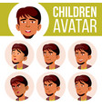 arab muslim boy avatar set kid high vector image vector image
