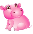 Baby hippo cartoon vector image vector image