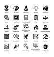 business and finance glyph icons set 1 vector image vector image