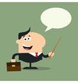 Businessman Holding a Pointer Cartoon vector image vector image