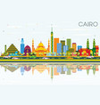 cairo egypt skyline with color buildings blue sky vector image vector image