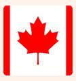 canada square flag button social media vector image vector image