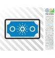 cardano bank note flat icon with bonus