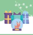 christmas deer design vector image vector image