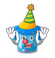 clown baby training cup isolated on mascot vector image vector image
