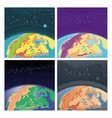 Collection of cosmic background with Earth vector image vector image