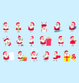 collection santa clauses christmas cheerful happy vector image vector image
