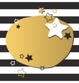Colorful gold star and black circles of light vector image